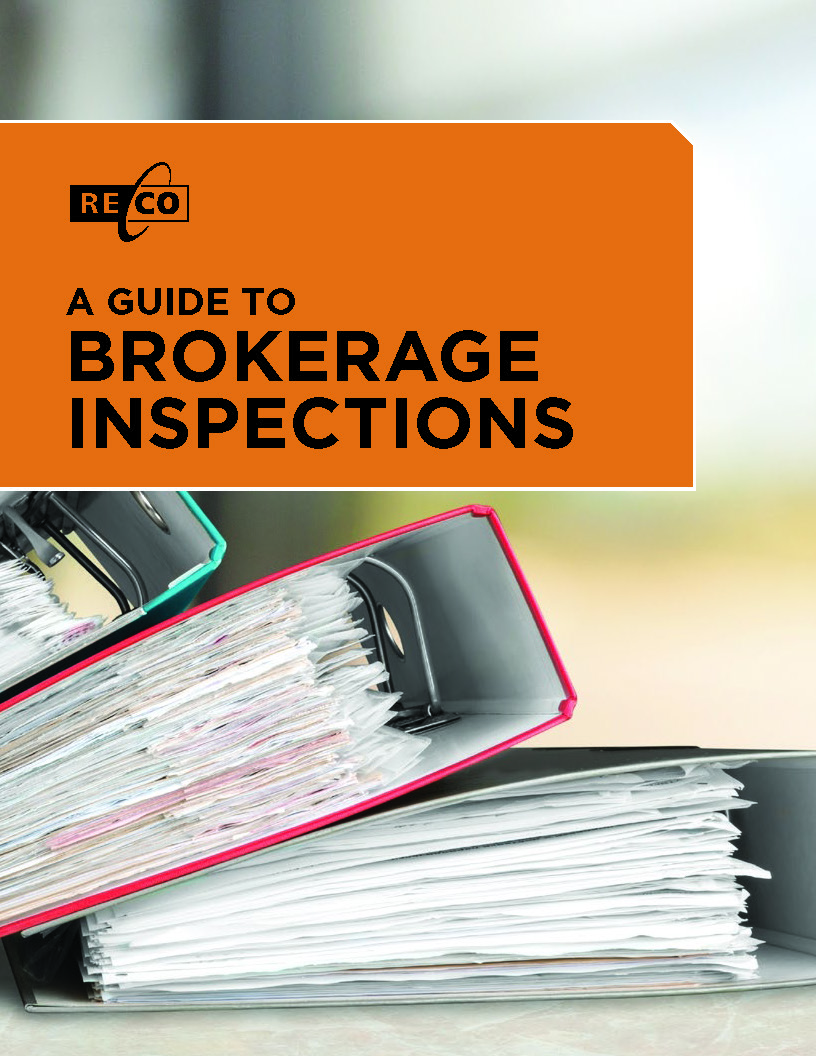 A guide to brokerage inspections cover page