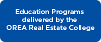 Education Programs delivered by the OREA Real Estate College