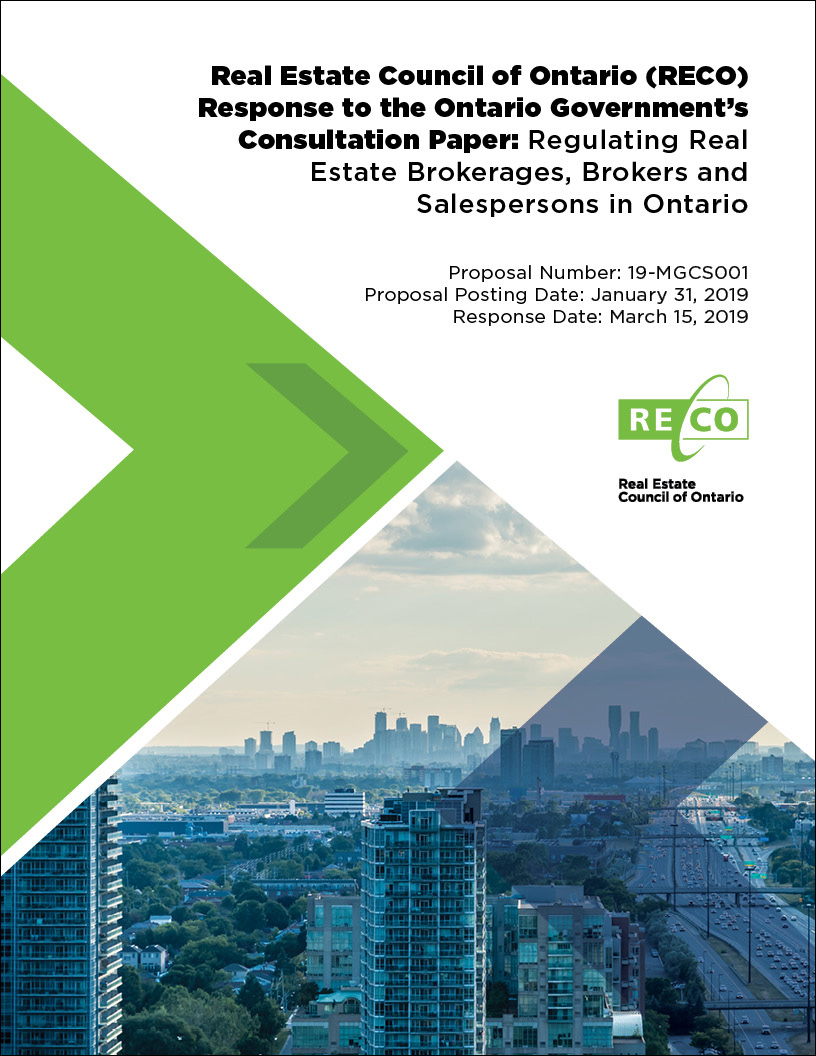 RECO's Submission to Government REBBA Review Consultation