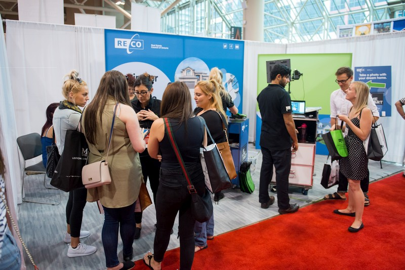Consumers visit the RECO booth as part of the Be Home Smart tour
